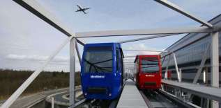 Leinter-Poma: Mini Metro (Frankfurt International Airport, Germany)